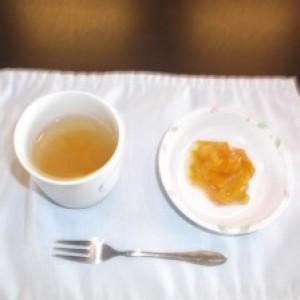 柚の皮の砂糖煮を作り