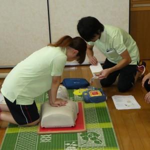 緊急時の対応(AEDの操作方法や心肺蘇生法) 寿光園