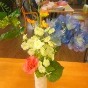 造花で生花!