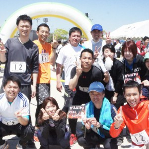 『ちくしの走』ハーフリレーマラソン♪見事完走!!