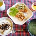 唐揚げ定食(男子ごはん)