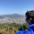 天拝山に登りました