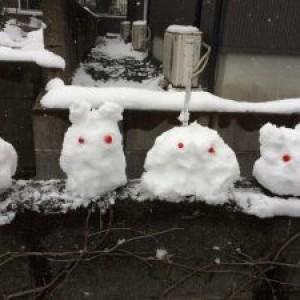 雪の三連休