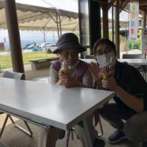 ソフトクリームが美味しいな♪