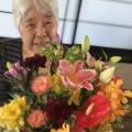 敬老会で綺麗なお花が♪